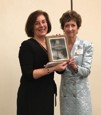 Gail receiving the 2018 MMTA Distinguished Service Award